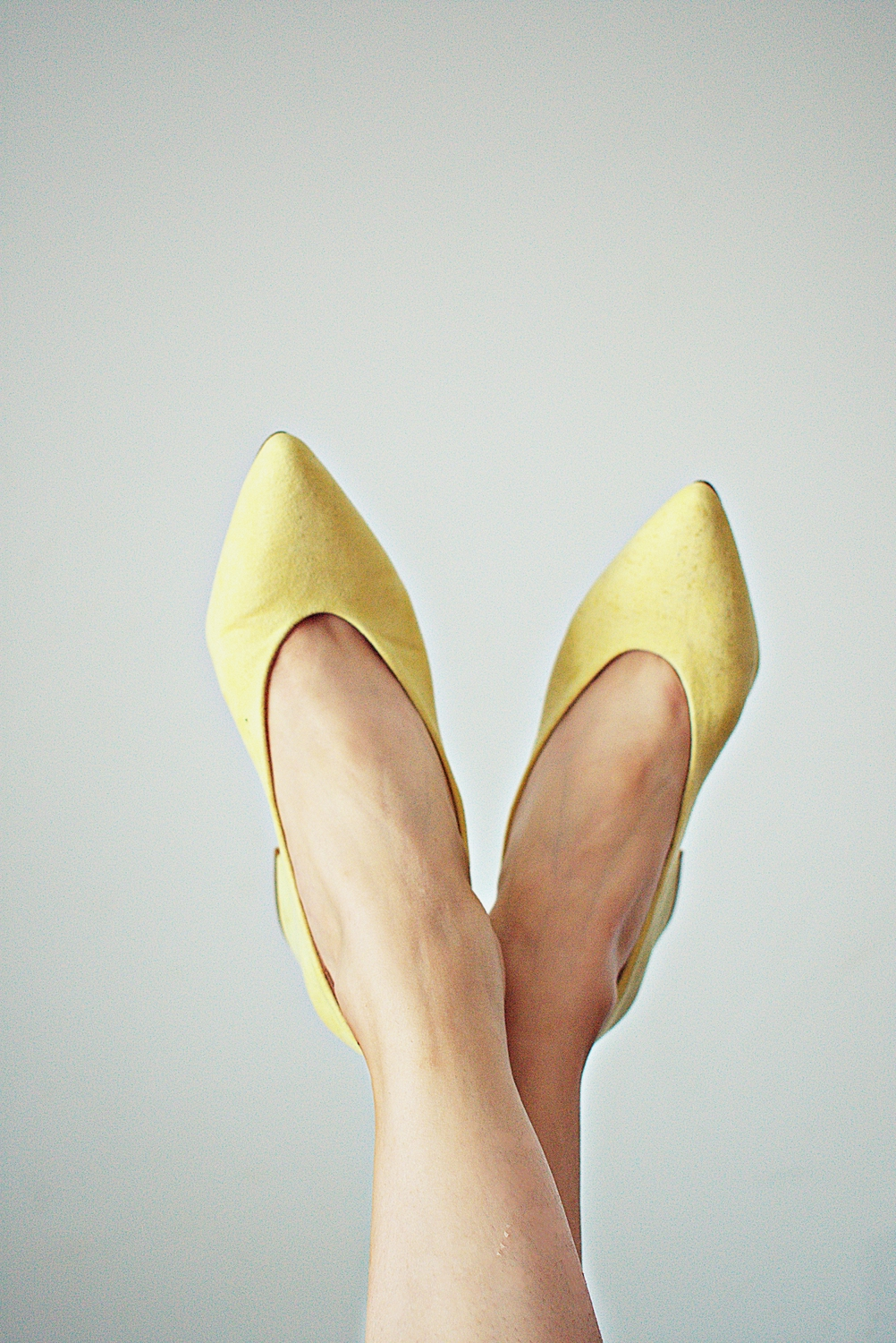 Pumps yellow von Fashion Demo